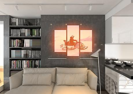 Infrared panel heating